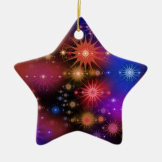 Star Clusters Ceramic Star Decoration