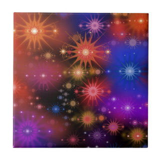 Star Clusters Small Square Tile