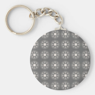 star collection grey basic round button key ring