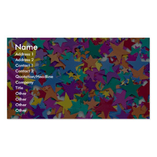 Star confetti in different colors pack of standard business cards