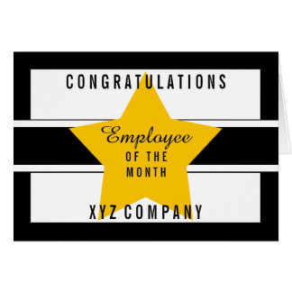 Star Congratulations Employee of the Month | Blank Card