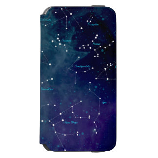 Star Constellation Sky Map Astronomy Space Incipio Watson™ iPhone 6 Wallet Case