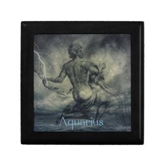 star constellation zodiac astrology aquarius small square gift box
