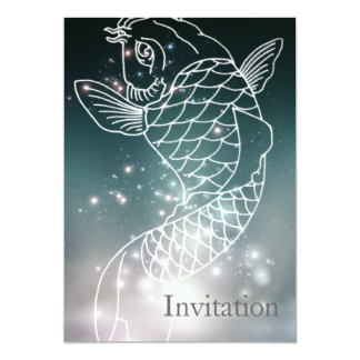 star constellation zodiac astrology Zodiac  Pisces Card