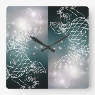 star constellation zodiac astrology Zodiac  Pisces Square Wall Clock