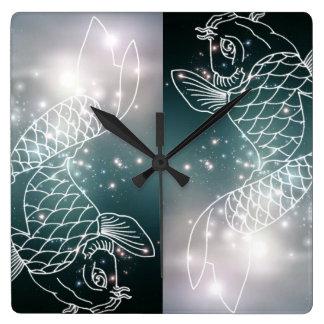 star constellation zodiac astrology Zodiac  Pisces Wall Clocks