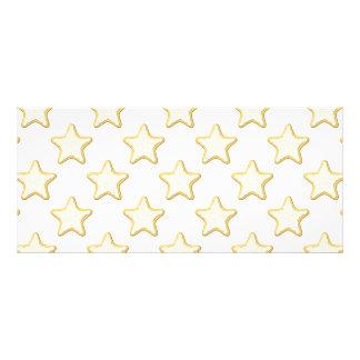 Star Cookies Pattern. On White. Custom Rack Card