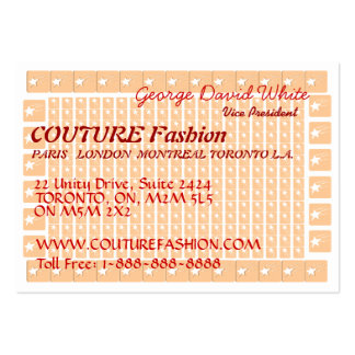 Star COUTURE Presentation Business Cards