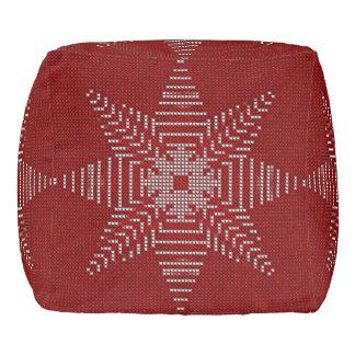 Star Cross Stitch Pattern Christmas Pouf