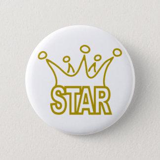 Star-Crown.png 6 Cm Round Badge