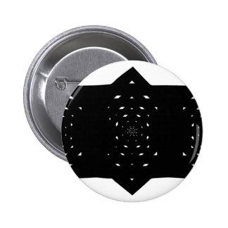Star Cut Trinity 6 Cm Round Badge