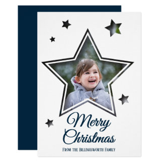 Star Cutout - Merry Christmas - Flat Card