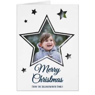 Star Cutout - Merry Christmas - Greeting Card