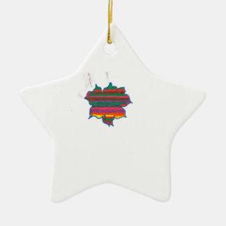 star Double-Sided star ceramic christmas ornament