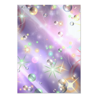 Star Design 13 Cm X 18 Cm Invitation Card