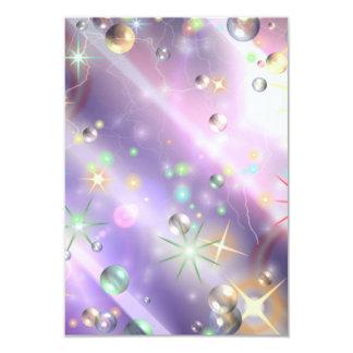 Star Design 9 Cm X 13 Cm Invitation Card