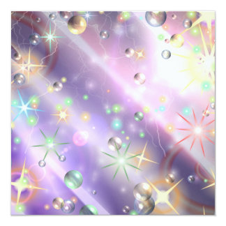 Star Design 13 Cm X 13 Cm Square Invitation Card