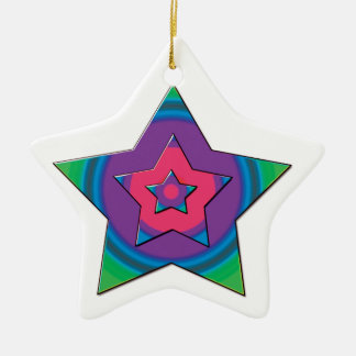 Star design Medal Ceramic Star Decoration