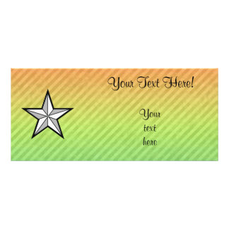 Star design full color rack card