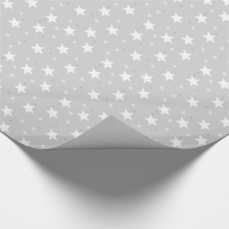 Star design Silver Christmas wrapping paper