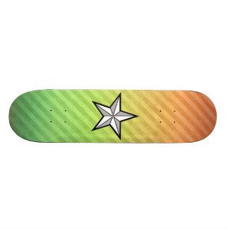 Star design skate deck