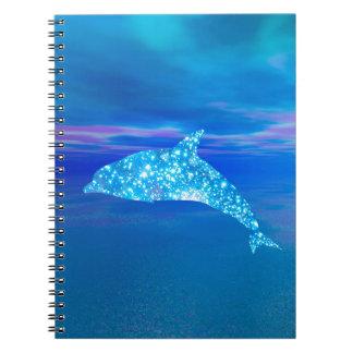 Star Dolphin Spiral Notebook