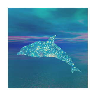 Star Dolphin Wood Wall Decor