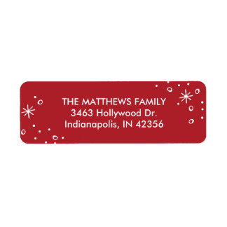 Star dust Holiday Return Address Label
