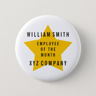 Star Employee of the Month Name | Company 6 Cm Round Badge