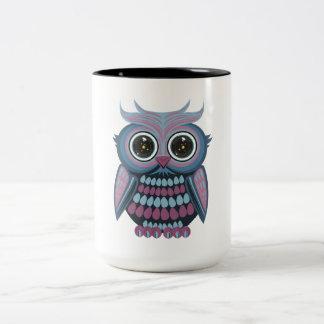 Star Eye Owl - Blue Purple Mug