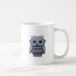 Star Eye Owl - Blue Purple Coffee Mug