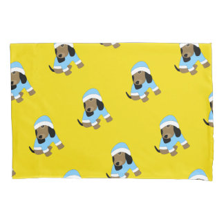 Star eyed cute dressed puppy dog pillowcase