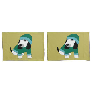 Star eyed cute dressed puppy dog pillowcases
