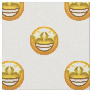 star eyes emoji fabric