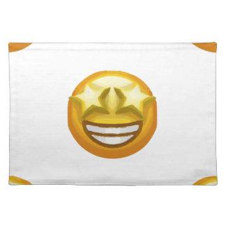 star eyes emoji placemat