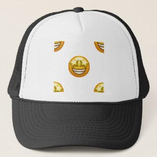 star eyes emoji trucker hat