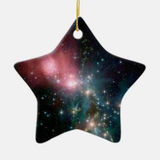 Star field ceramic ornament