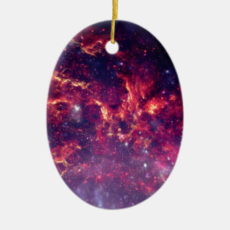 Star Field in Deep Space Ceramic Oval Decoration