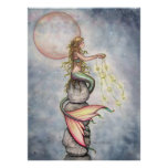Star Filled Sky Mermaid Poster by Molly Harrison