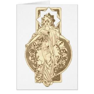 Star Filled Zodiac Card