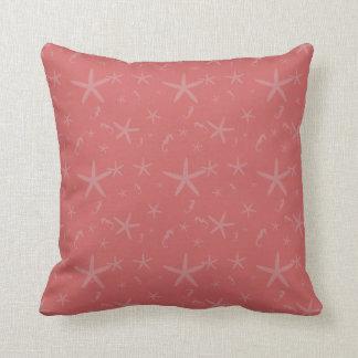 Star Fish and Sea Horses Throw Pillow