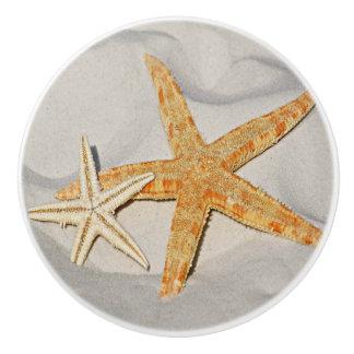 Star Fish at the Beach Ceramic Knob