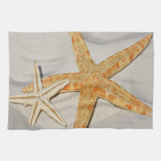 Star Fish at the Beach Tea Towel