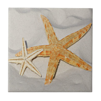 Star Fish at the Beach Tile