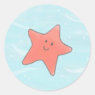 Star Fish Under the Sea circle Sticker