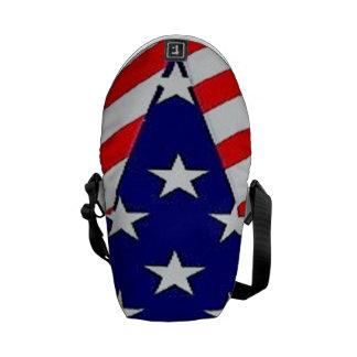 Star flag messenger bag