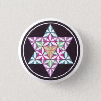 Star Flower 3 Cm Round Badge