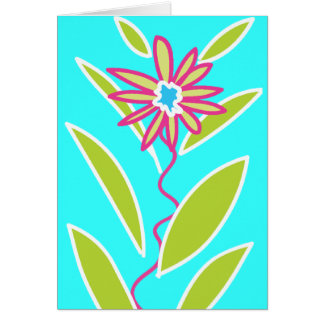 Star Flower Blank Card