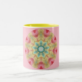Star Flower Fractal Two-Tone Coffee Mug