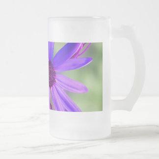 Star Flower Frosted Glass Mug
